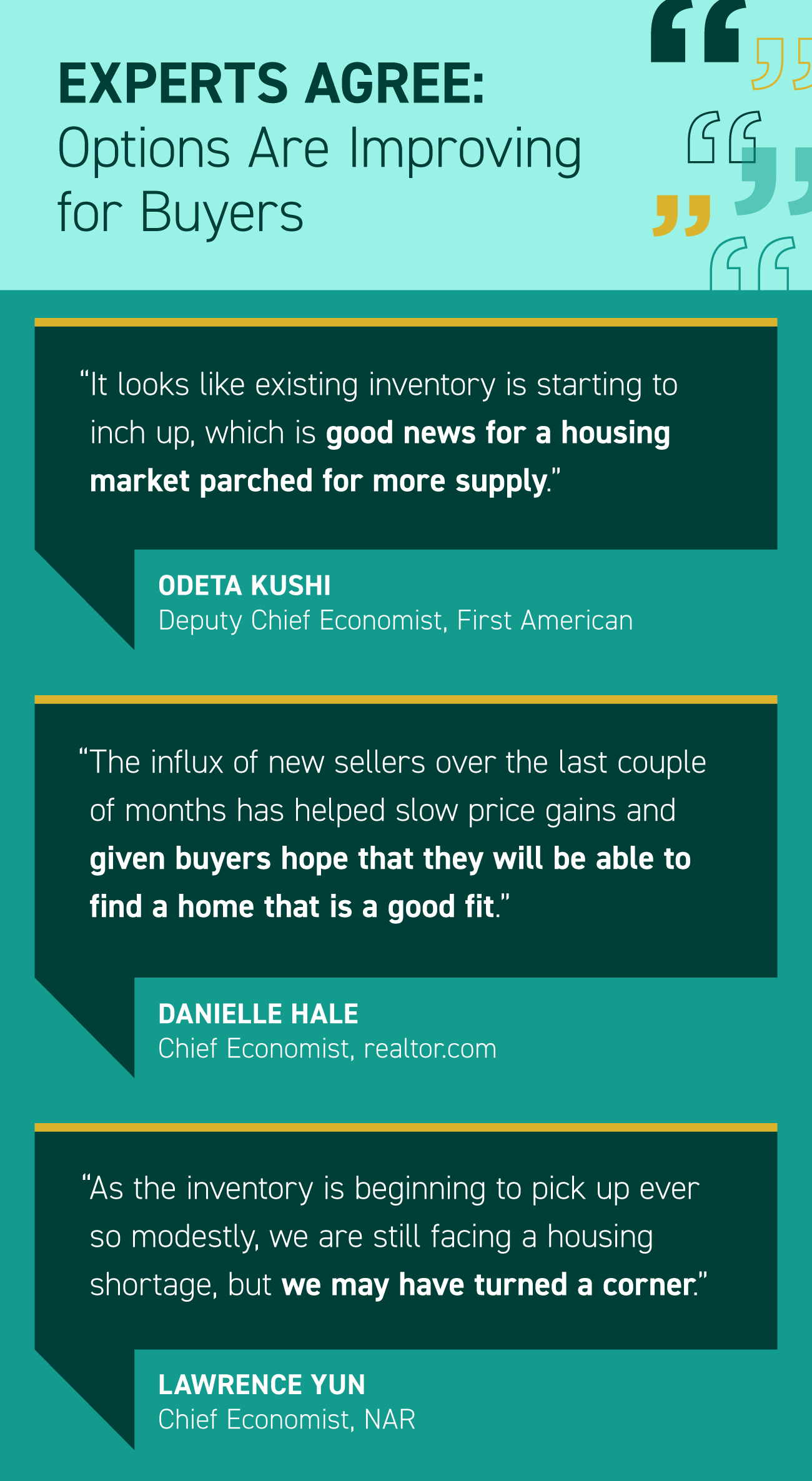 Experts Agree: Options Are Improving for Buyers [INFOGRAPHIC] | Simplifying The Market